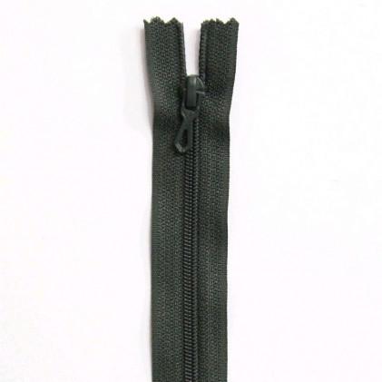 Fermeture Eclair nylon non séparable 30 cm  Vert treillis