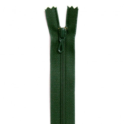 Fermeture Eclair nylon non séparable 30 cm  Vert sapin