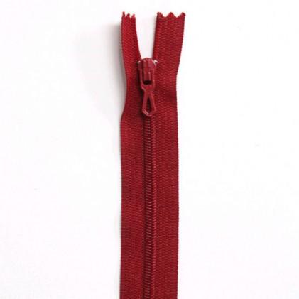 Fermeture Eclair nylon non séparable 30 cm  Rouge