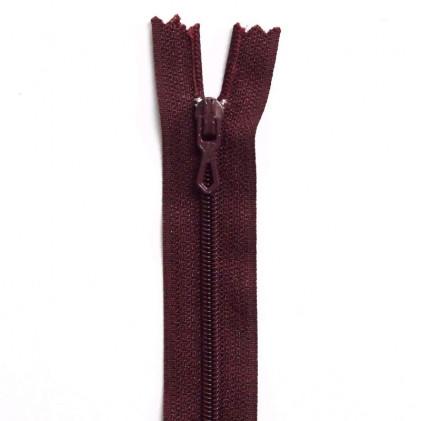 Fermeture Eclair nylon non séparable 30 cm  Bordeaux