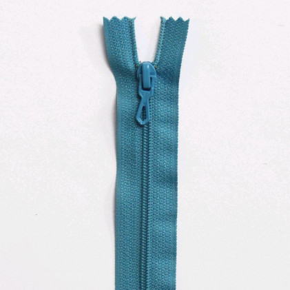 Fermeture Eclair nylon non séparable 30 cm  Bleu turquoise
