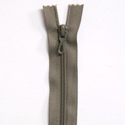 Fermeture Eclair nylon non séparable 30 cm  Grège