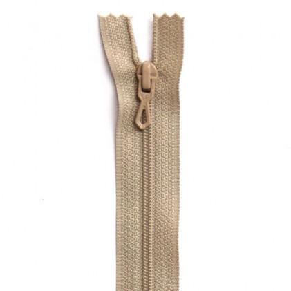 Fermeture Eclair nylon non séparable 30 cm  Beige