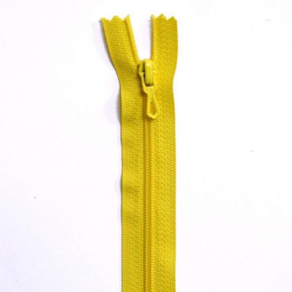 Fermeture Eclair nylon non séparable 30 cm  Jaune