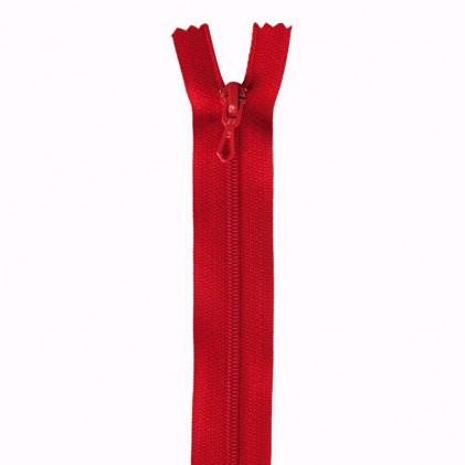 Fermeture Eclair nylon non séparable 30 cm  Rouge coquelicot