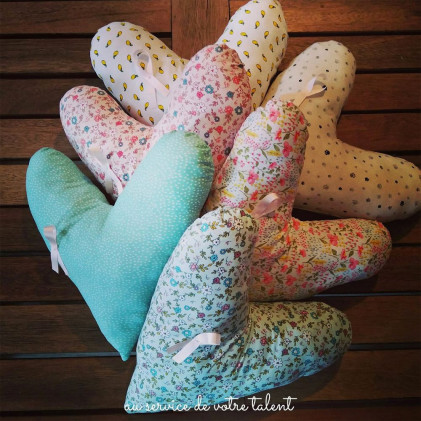 Atelier Solidaire : Coussin Coeur