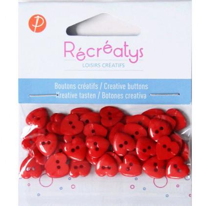 Assortiment de boutons créatifs Récréatys Rouge