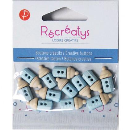 Assortiment de boutons créatifs Récréatys Bleu / Beige