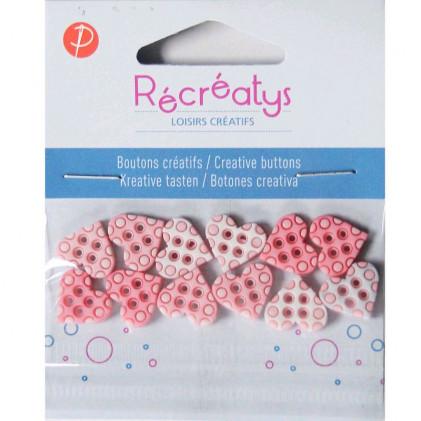 Assortiment de boutons créatifs Récréatys Rose