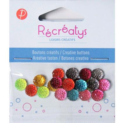 Assortiment de boutons créatifs Récréatys Multicolore