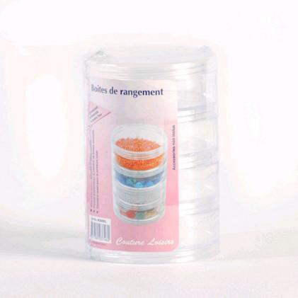 Boite de rangement 4 compartiments . Transparent