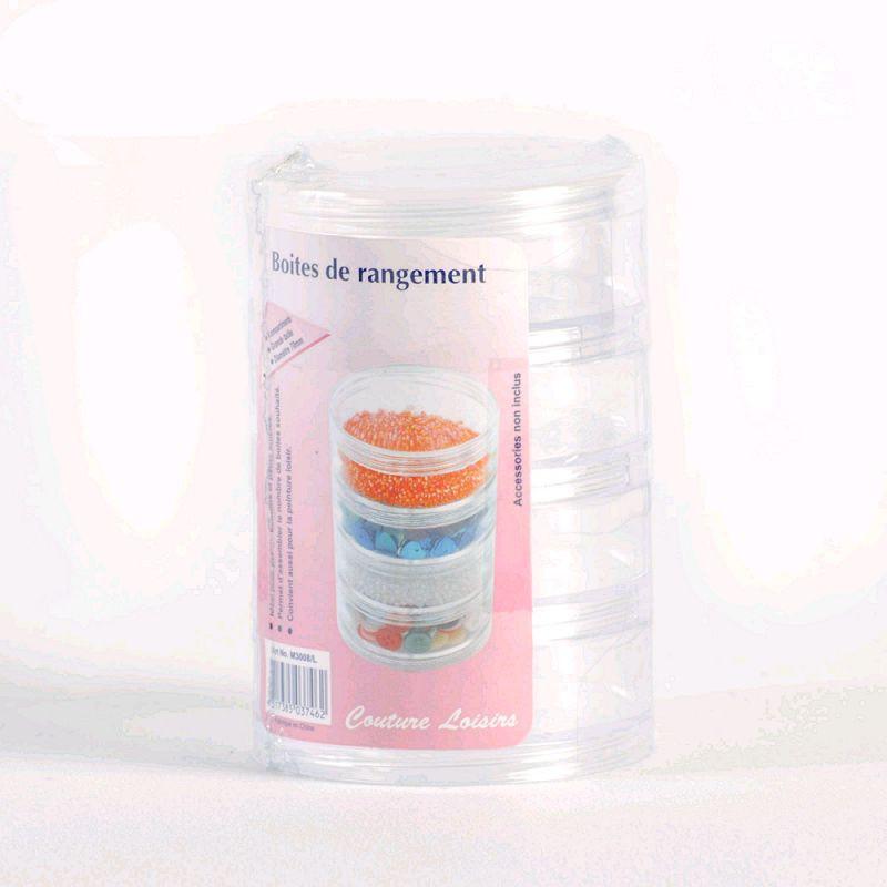 Boite de rangement 4 compartiments mercerie acheter tissu for Boite de rangement mercerie