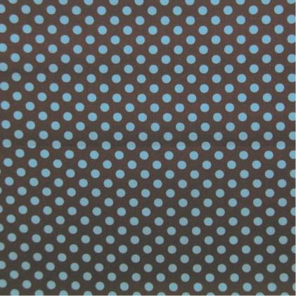Tissu coton imprimé Pois et Etoiles Turquoise