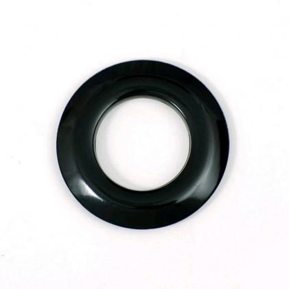 Oeillet rideau mat 25 mm Noir Noir