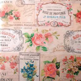 Tissu sergé Fleurs de rose