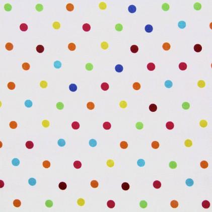 Tissu imprimé Pois multico Multicolore