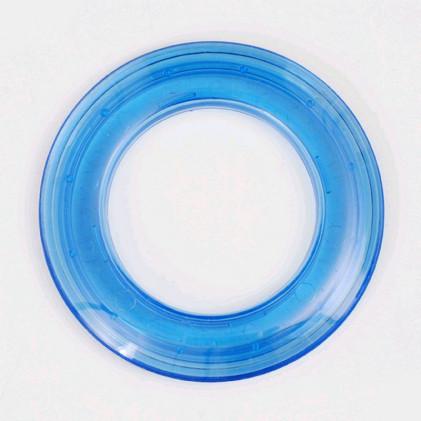Oeillet rideau transparent 40 mm . Bleu