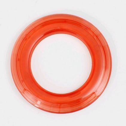 Oeillet rideau transparent 40 mm . Orange foncé