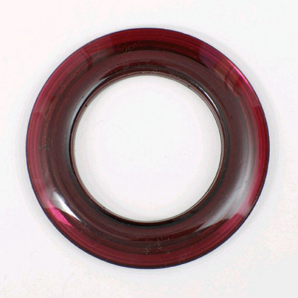 Oeillet rideau transparent 40 mm . Prune