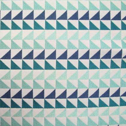 Tissu jacquard Aztec Bleu