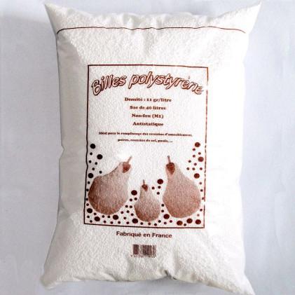 Billes polystyr ne antistatiques 40 litres self tissus - Billes polystyrene castorama ...