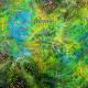 Tissu impression batik Tika Vert