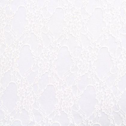 Tissu dentelle Denteline Blanc