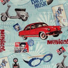 Tissu imprimé Musical