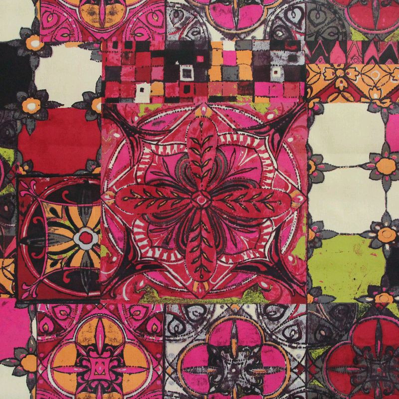 tissu coton enduit azulejos self tissus. Black Bedroom Furniture Sets. Home Design Ideas
