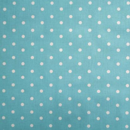 Tissu pois Poppins Bleu turquoise
