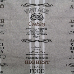 Tissu coton enduit Cooking