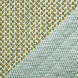 Tissu matelassé réversible Ananas