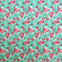 Tissu coton imprimé Lotus