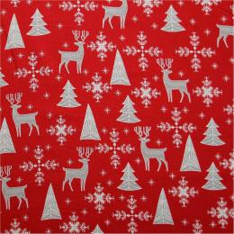 Tissu coton Noël Silver
