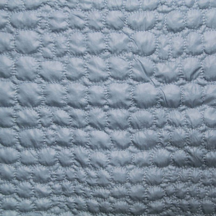 Tissu matelassé Adèle  Bleu gris