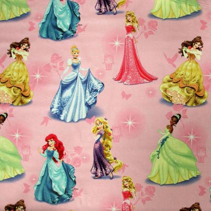 Tissu enfant Princesses Disney   Rose