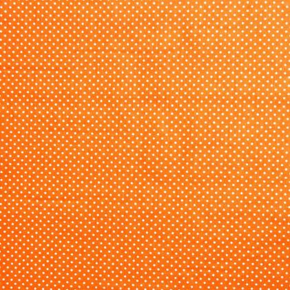 Tissu pois Piselli  Orange