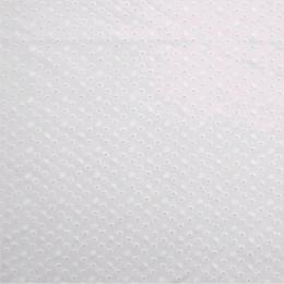 Tissu coton brodé ajouré Cally