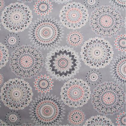 Tissu coton imprimé Manija  Gris