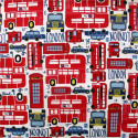 Tissu coton enfant City bus