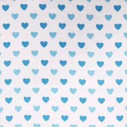 Tissu flanelle Hearts