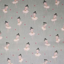 Tissu coton imprimé Ballerines