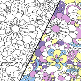 Tissu jersey magique photosensible Flower