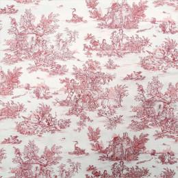 Tissu draps imprimé toile de jouy Mini pastorale