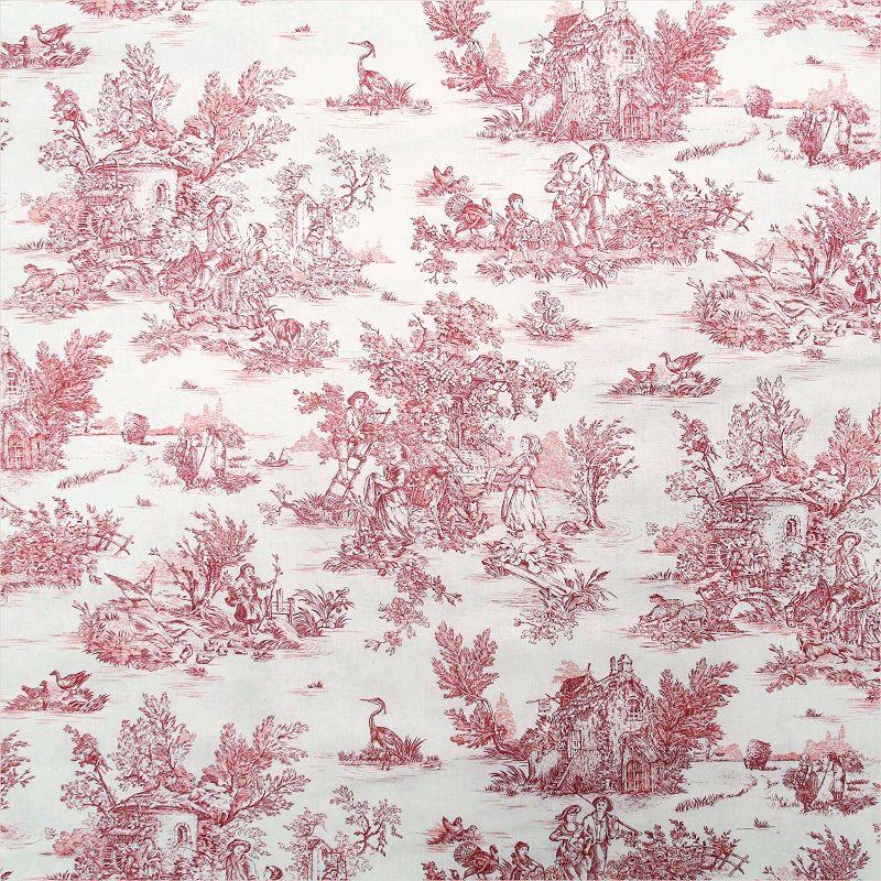 tissu draps imprim toile de jouy mini pastorale self tissus. Black Bedroom Furniture Sets. Home Design Ideas