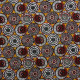 Tissu coton imprimé Soweto  Jaune moutarde