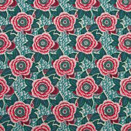 Tissu coton imprimé Dahlia