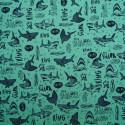 Tissu maillot de bain Shark
