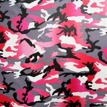 Tissu vinyl Camouflage Gris