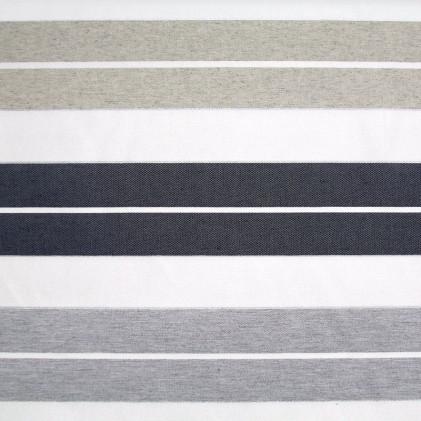 Tissu tissé à rayures Roy Gris / Bleu